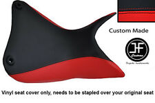 RED AND BLACK VINYL CUSTOM FITS DUCATI MULTISTRADA 1200 S 2010+ SEAT COVER ONLY