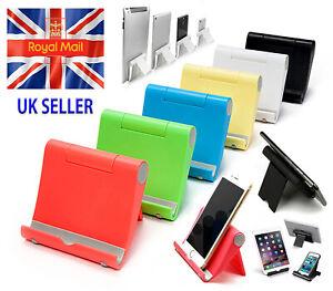 Universal Mobile Phone And Tablet Desktop Stand Adjustable Foldable Portable UK