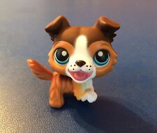 LITTLEST PET SHOP #237 Brown Collie Blue Eyes Open Mouth Dog 2006 Rare