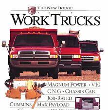 1995 DODGE WORK TRUCK BROCHURE -RAM 1500 2500 3500 PICKUP-DAKOTA-VANS