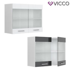 VICCO Hängeglasschrank 80 cm Küchenschrank Küchenzeile R-Line