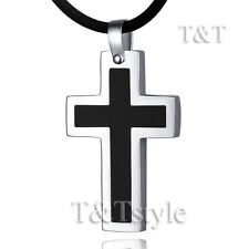 T&T Stainless Steel Cross Pendant Necklace (CP15)