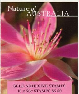 2002 AUSTRALIAN STAMP BOOKLET NATURE OF AUST DESERT FLOWER 10 x 50c STAMPS MUH