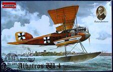 ALBATROS W.4 (W.IV) EARLY - WW I GERMAN NAVY FIGHTER #28  1/72 RODEN
