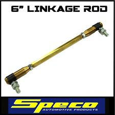 "SPECO ADJUSTABLE CARBURETOR CARBY LINKAGE ROD BALL JOINT ASSEMBLY 6"" 221093.6"