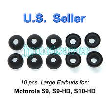 10 large Motorola S9 S9-HD S10-HD replacement earbuds - Motorokr eargel eartips