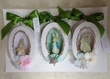 SET 3 POTTERY BARN KIDS BEATRIX POTTER SHADOW BOX ORNAMENTS NEW FREE PRIORITY