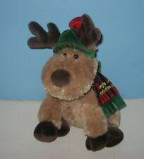 "Koala Baby 13"" Baby's 1st Christmas Reindeer Stuffed Bean Tush Plush Animal Pal"