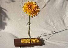 Design Vasen aus edlem Nussholz für eine Blume (4 Stk. Packung)