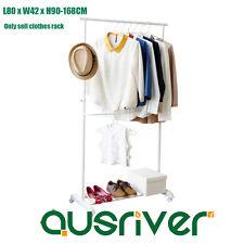 Metal Clothes Rack Garment Display Portable Double Rail Hanger Adjustable Height