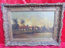 schönes ,altes Gemälde__Fluß-Idylle__signiert ( P.v.Kampen ?)__!
