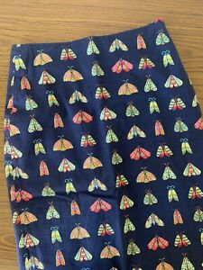 Gorman Moths Pencil Skirt Cotton Size 6 Fitted Butterfly print