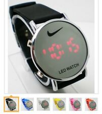 Nike LED Watch Round Mirror Face SILICONE BAND New W/out Tags No Box Many Colors