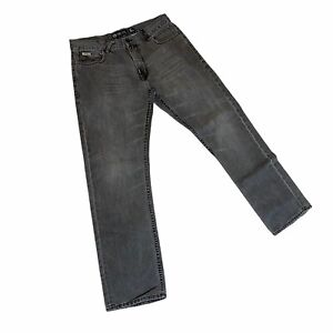 "Men's ""APOCALYPSE WOW"" LRG denim jeans size W36 L32 grey 100% cotton straight"