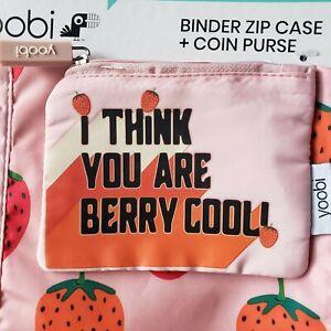 Yoobi Binder Zip Pencil Pouch Case Coin Purse Panda Koala Cherry Banana U Pick!