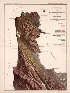 Original 1895 USGS map San Francisco & San Francisco Peninsula