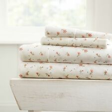 Hotel Luxury Soft Floral Pattern 4 Piece Bed Sheet Set by Home Collectionª