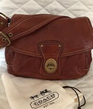 Coach Legacy Vtg.Ali Whiskey Leather Flap 10329 Shoulder Bag Purse Ltd Ed.$498