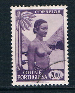 Portuguese Guinea 1948 Pictorials 20E violet o/FU SG 316 Afinsa 260