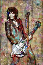 JOAN JETT Tribute Poster, Joan Jett & The Blackhearts Pop Art 12x18in Free Ship