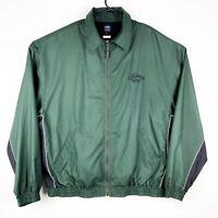 CALLAWAY POLY 1/4 ZIP GOLF Jacket 2XL GREEN BLACK WIND BREAKER BOMBER
