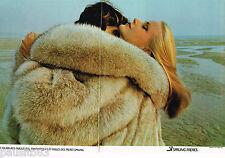 PUBLICITE ADVERTISING 065  1978  SPRUNG  FRERES   fourrures ( 2p)