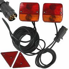 Kit set luci stop fanali posteriori magnetiche rimorchio carrello trattore auto