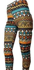 H77 NEW PANTS SHAPING Small TRIBAL TIGHT GYM YOGA WORKOUT JR WOMEN LEGGING PANTS