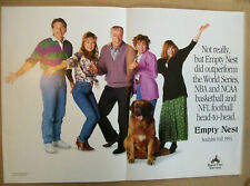 Empty Nest 1991 Ad- outperformed World Series NBA NCAA NFL football/ 3 page ad