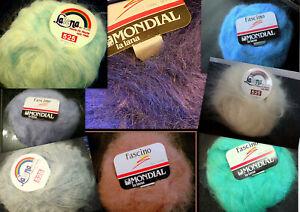 Mohair, Langhaar, Lalena 525 + Fascino, 50g, Farbwahl, Vintage, Retro