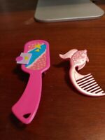 Lot of 2 Vintage Barbie Doll/Doll Brushes: Totally '80s & Fish Brush MINT