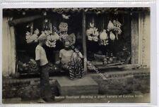 (Ga9266-477) Real Photo of Native Fruit Shop, Ceylon, Sri Lanka c1920 VG-EX