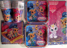 SHIMMER and SHINE Nick Jr. Birthday Party Supply Kit Pack Set for 16