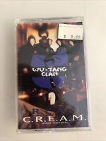 Wu-Tang Clan C.R.E.A.M Maxi-Cassette Tape Factory Sealed NOS Rap Hip Hop