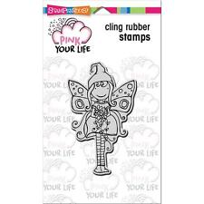 Stampendous - Pink Your Life Cling Rubber Stamp - WHISPER MAID - fairy