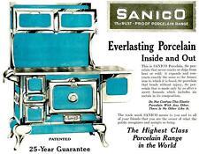Print.  1919-20.  Sanico Porcelain Ranges Advertisement