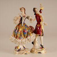 Volkstedt markiert porzellan figure tanzerin spitzekleid Aelteste Volkstedter