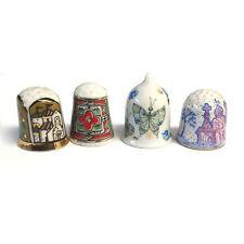 Lomonosov Porcelain Thimbles  SET OF 4 PCS