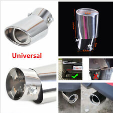 1Pcs Stainless Steel Round Bend Car Truck Chrome Exhaust Tail Mufflers Tip Pipes