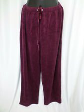 Catherine's Wine Lounge Pants Bling at Pullstring Womens Size 0X 14/16W