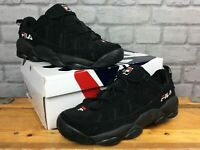 FILA MENS UK 7 1/2  EU 41 1/2 BLACK SPAGHETTI LOW TRAINERS RRP £100