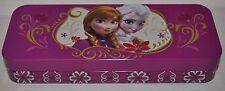 Disney Frozen Queen Elsa & Anna Tin Pencil Box School Supplies in Pink New