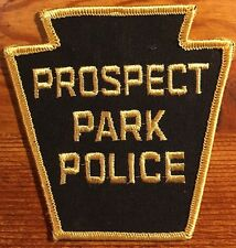 Historic & Obsolete PROSPECT PARK POLICE Patch NOS PA Pennsylvania Cheesecloth