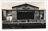 Ansichtskarte Oberammergau - Bühne im Passionstheater mit Schauspielern - s/w