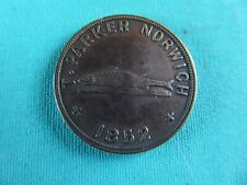 Antique Fish and game dealer token Norwich 1852