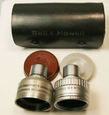 Bell & Howell 1 ½ X wide Angle & Wollensak 2 1/2X Telephoto Attachment Lens