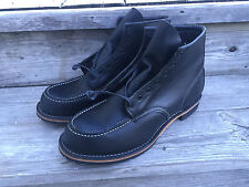 New Red Wing 7.5D Boots Beckman Heritage 9015 Black