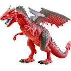 Remote Control Dinosaur Red RC Walking Animal Electric Spray Dino Roar Kids Toy
