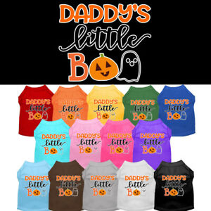 Daddy's Little Boo Dog Shirt  Pet Clothing Fall Halloween Apparel