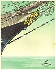 cunard white star line -1946 menu for the queen elizabeth. ship figure head